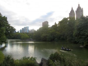 В Central Park можно взять на прокат лодку